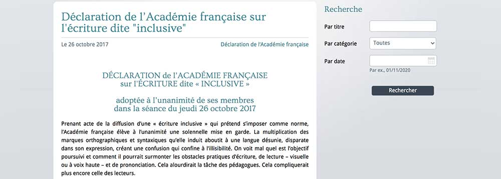 Academie francaise